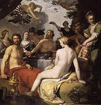 svadba Pélea a morskej bohyne - nymfy Thetis
