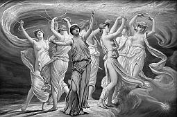 Plejády - Dcéry Titána Atlanta (Atlás) a Ókeanovny Pléióny, bolo ich sedem, dnes tvoria rovnomenné súhvezdie, Maia je jednou z nich