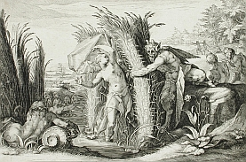 Syrinx - meno nymfy, trstinového porastu, neskôr aj tzv. Pánovej píšťaly