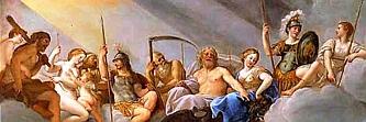 Héraklés a bohovia Olympu