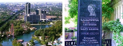 Taškent mesto vody -                            pred múzeom Sergeja Jesenina v Taškente