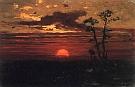 maľba západ slnka