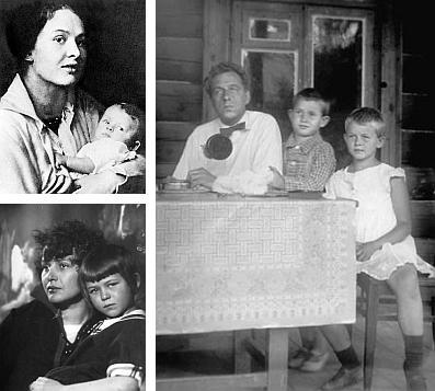 Zinaida Rajch s dcérkou Tatianou + Mejerchoľd, Kosťa a Táňa